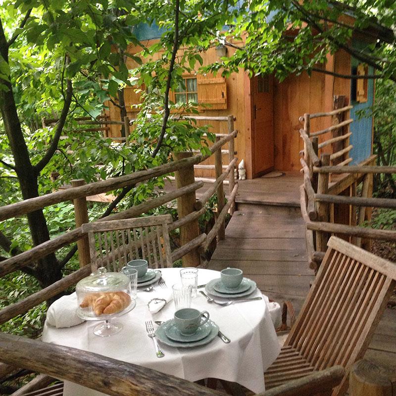 Casa sull'albero Toulipier - Il Giardino dei semplici Manta Cuneo - Bed and  breakfast, Vivaio di rose antiche e case sull'albero